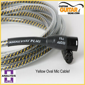 Analysis-Plus-Yellow-Oval-10ft-Microphone-Mic-Cable