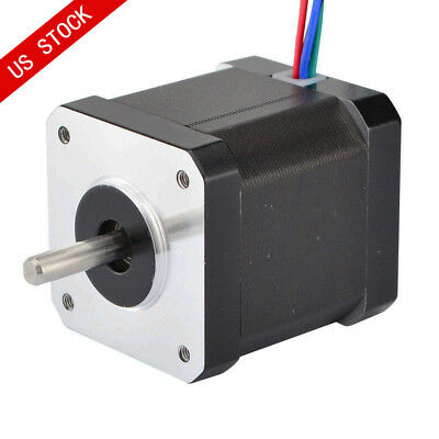 0.9deg Nema 17 Stepper Motor Bipolar 62.3oz.in 1.68A 4 Wires CNC Reprap Robot