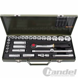Proxxon-Socket-Wrench-Set-1-2-034-29-Pieces-Ratchet-Box-Nuts-Bits-Ratchet