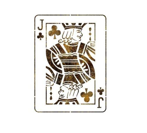 """Stencil Pared plantillas patrón 12,99 /""""X9.05/"""" Aerógrafo plantilla grandes Jack Poker"""