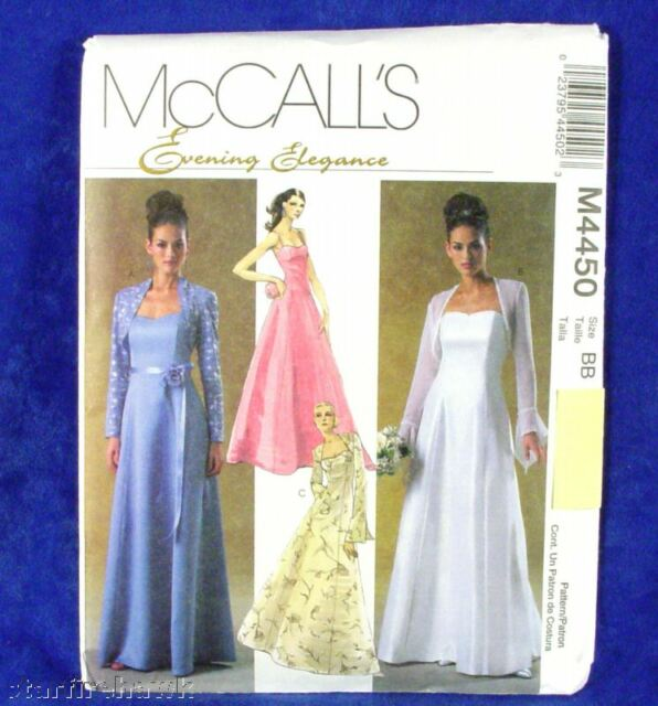 McCall's 4450 Elegant Prom Bridal Gown Pattern 4-10 NEW
