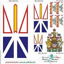 Autocollant Voitures Drapeaux Armoiries Canada Prv.Neufundland Labrador Bateau