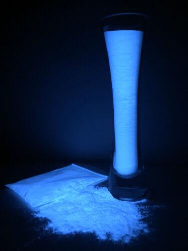 SuperGrade Strontium Aluminate Glow in the Dark Pigment Powder 100g COBALT BLUE