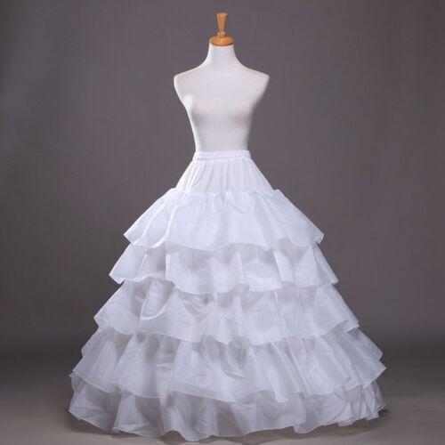 5 Ruffles 4 Hoops Petticoats Fish Tail Crinoline Skirt Wedding Dress Underskirt