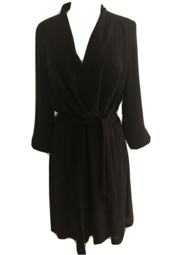 Gorgeous Escada Wrap Dress, Black Silk, Size 12