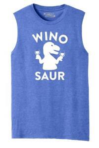ecafb3d74 Mens Winosaur Funny Wine Lover Shirt Muscle Tank Dinosaur Alcohol ...