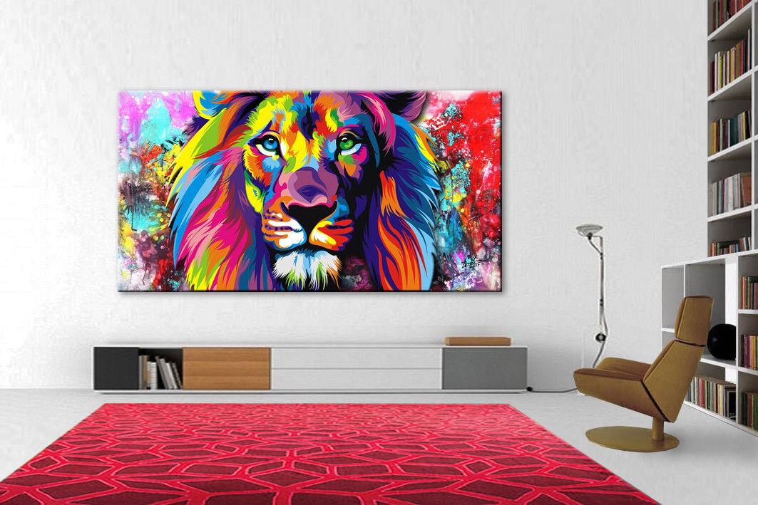 León animales son murales sobre lienzo imágenes decorativas abstracto son animales impresiones artísticas Modern 1966a d659c3
