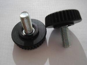 Lote-de-2-tornillos-ajuste-roscado-M5-longitud-10mm-botones-sujecion-con-estrias