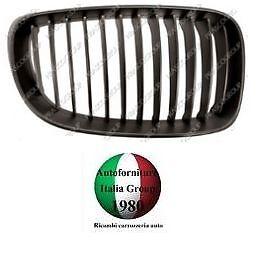 GRIGLIA RADIATORE SX CROMATA//NERA BMW SERIE 1 S1 E87 07/>11 DAL 2007 AL 2011