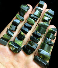 41g 33PCS Natural GREEN Tourmaline Crystal Rough Stone Rock Specimen A349