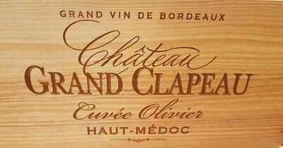 Scatola In Legno Vino Crate. 6 Flacone. Francese. Originale Storage Matrimonio Cesto Fioriera-mostra Il Titolo Originale