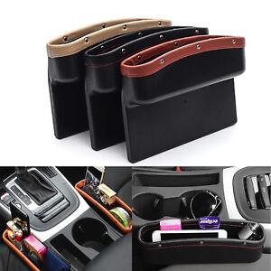Auto Car Seat Gap PU Leather Storage Box Pocket Catcher Organizer Container NEW