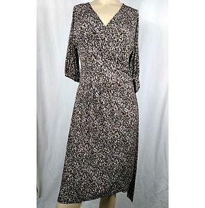 GEORGE-Classy-Animal-Print-Knit-Wrap-Dress-Women-039-s-Ladies-Size-Medium-8-10