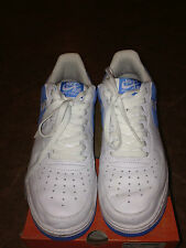 NIKE AIR FORCE 1 2005 WHITE/ UNIVERSITY BLUE ORIGINALS MENS SIZE 9.5 FREE SHIP