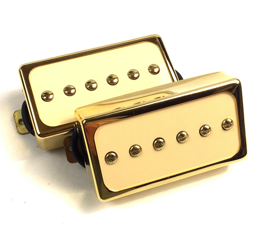 Dragonfire H90s Humbucker Sized Cased P90s Set Cream Pearl Gold Ebay Two Pickup Wiring Harness 500k Toggle Chrome Great With Norton Secured Powered By Verisign