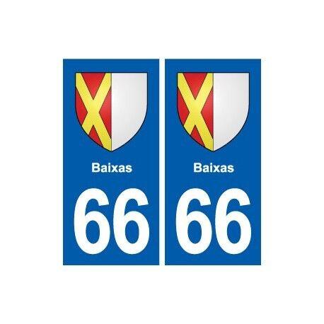 66 Baixas blason autocollant plaque stickers ville droits