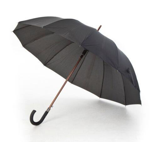 Smart Black Walking Umbrella Soft Grip Crook Handle Lightweight Susino Stamford
