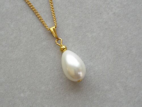 Teardrop Pearl Necklace /& Earrings set for women Bridesmaid Bridal Wedding V12B