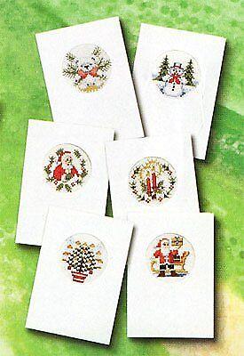 Conjunto de 6 Pako puntada cruzada contada Kits de tarjeta de Navidad