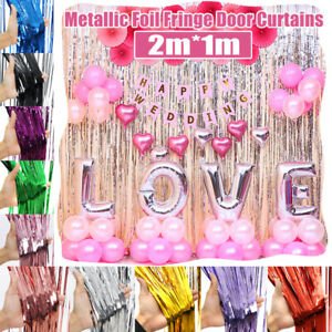 Metallic-Foil-Fringe-Curtain-Tinsel-Kid-Christmas-Party-Decor-Wedding