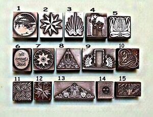 Multiple Item Listing ART NOUVEAU DECO & MODERN DESIGNS Printing Blocks.