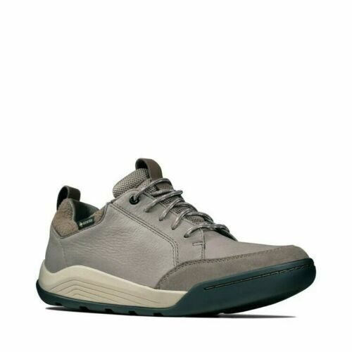 Clarks Ashcombe Bay Gtx Taupe Combi Leathers Men's Shoes UK Size 8 G EU 42