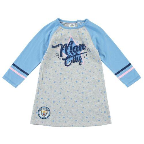 Kitbag Manchester City Star Long Sleeves Dress Baby Girl Grey Marl//Sky