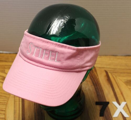 WOMENS PINK STIFEL VISOR ADJUSTABLE IN VERY GOOD C