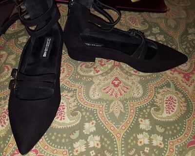 Design Lab Lord Taylor 7 Black Strappy Flats Gladiator Shoes Ebay