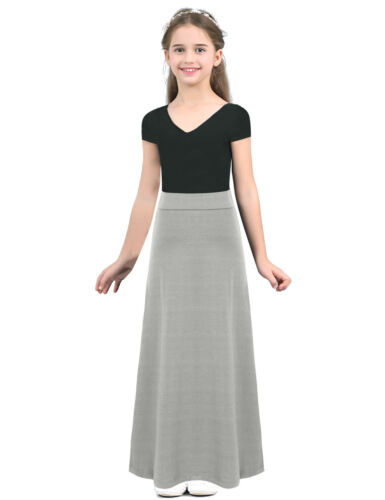 Girls Maxi Pleated Full Circle Skirt Celebration Liturgical Party Dance Dress