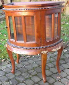 Halbmond teetisch beistelltisch vitrine demi lune teak - Beistelltisch kolonialstil ...