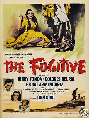 The fugitive Henry Fonda vintage movie poster print
