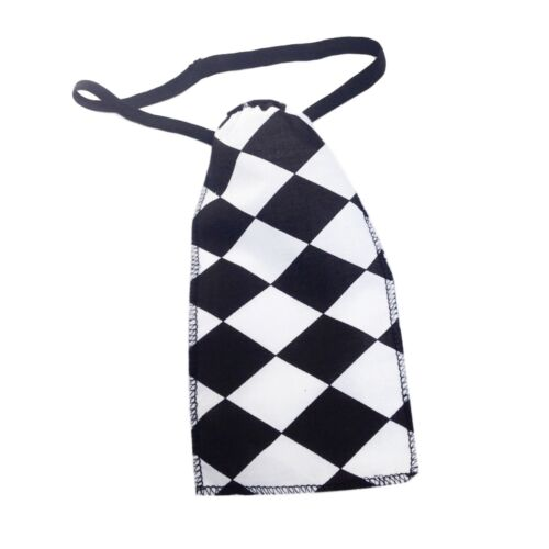 TIE Black White Check Fancy Dress HEN DO COSTUME Police Woman SKIRT