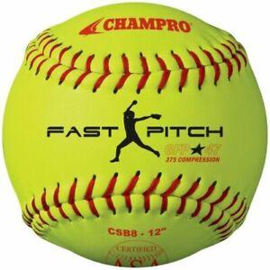 "Dudley 12/"" 47//375 High School NFHS Fastpitch Softball Dozen"