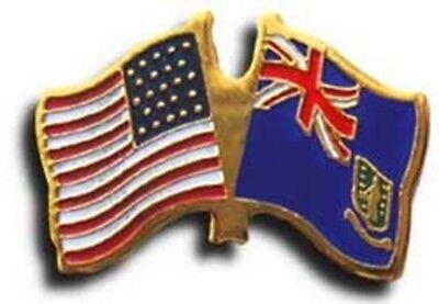 USA American Ireland Friendship Flag Bike Motorcycle Hat Cap lapel Pin