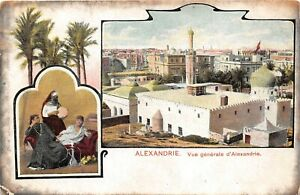 POSTCARD-EGYPT-ALEXANDRIE-GENERAL-VIEW