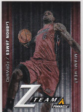 LeBRON JAMES Pinnacle Z TEAM INSERT CARD Miami Heat Basketball CLEVELAND CAVS