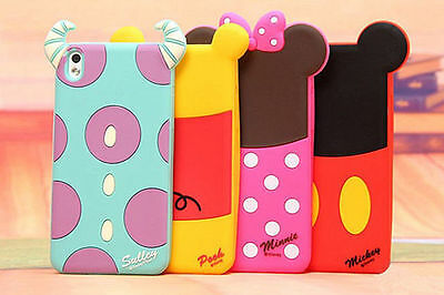 3D Cartoon Minnie Sulley Cover for HTC Desire 610/816/butterfly silicone case