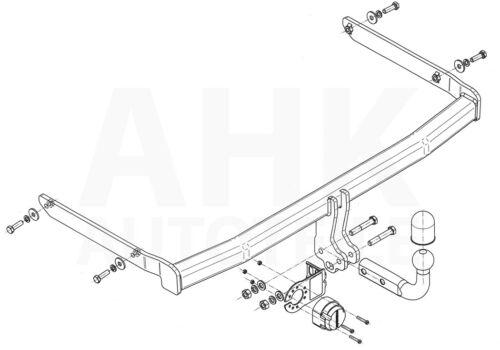 Für Ford Fiesta V FL 3//5-Tür Fließheck 05-08 Anhängerkupplung starr+ES 13p spez