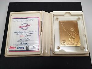 RICK-MIRER-1993-HIGHLAND-MINT-LIMITED-EDITION-BRONZE-CARD-0934-of-2-500