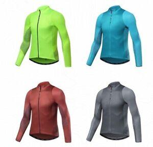 Santic-Autunno-Inverno-Pro-Maglie-da-Ciclismo-MTB-Downhill-Traspirante-A-Maniche
