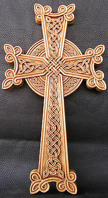 "Armenian Cross - Wooden Orthodox religious Carved Crucifix крест (16"" x 9"")  