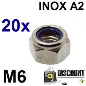 50 v2a Ecrou écrous m8 Acier Inoxydable DIN 985 a2