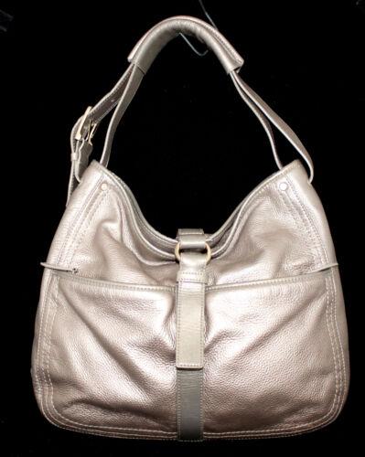 COLE HAAN Champagne Beige Pebbled Leather Shoulder Bag Hobo
