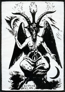 Goat-of-Mendes-Patch-White-Satan-Occult-Pagan-Witch-Heavy-Metal-Goat-The-Devil