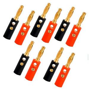 10x-connettore-spina-spinotto-BANANA-placcato-oro-4mm-per-speaker-altoparlanti