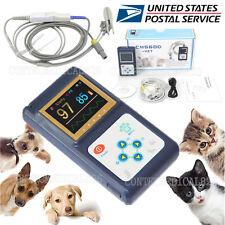 US Seller Veterinary pulse oximeter SPO2 Pr monitor Vet Tongue Probe Dog/Cat/Pet
