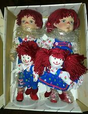 DUCK HOUSE HEIRLOOM PORCELAIN RAGGEDY ANN & ANDY DOLLS (DEON & DEE)