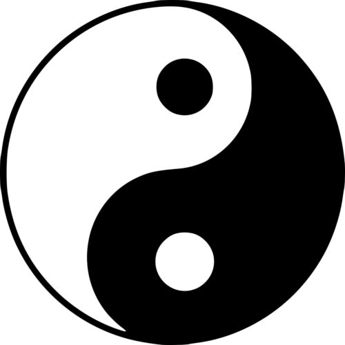 """Colour and Size Selectable Wall Tattoo Icon /""""Yin and Yang/"""""""
