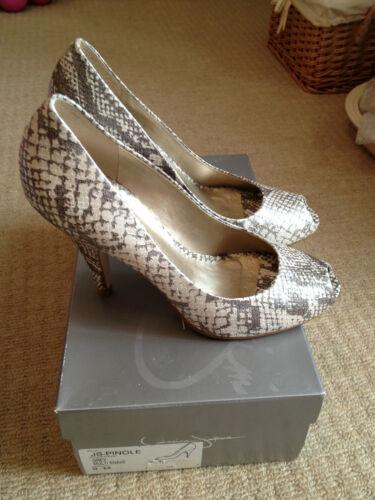 c0a040e63 Pinole Simpson Uk6 Js Peep Shoes Eu Print Snake Jessica Us Heels 9 Grey 39  Toe qE61nnd